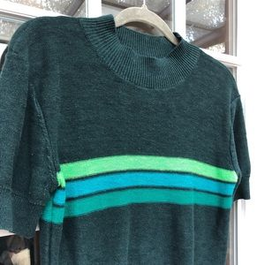 Urban Outfitters stripe mock neck sweater M